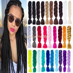 24inch-Ombre-Kanekalon-Jumbo-Twist-Braiding-Fiber-Synthetic-Hair-Extensions-Lots