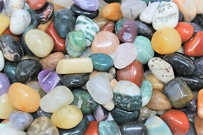16 oz 1 lb Bulk Lot Aquamarine Tumbled Stone Crystal Gemstone Reiki Tumble