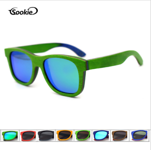 Luxury Handmade Skateboard Wood Polarized Sunglasses Retro Wooden Frame Glasses