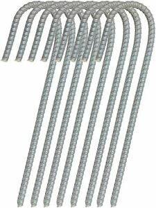 """Urbalabs 16/"""" Rebar Stakes Tent Camping Heavy Duty Steel Fence Anchors 12 pk"""