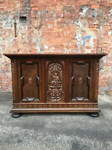 Image Is Loading VERY LARGE CONTINENTAL DANISH HEAVILY CARVED OAK DINING