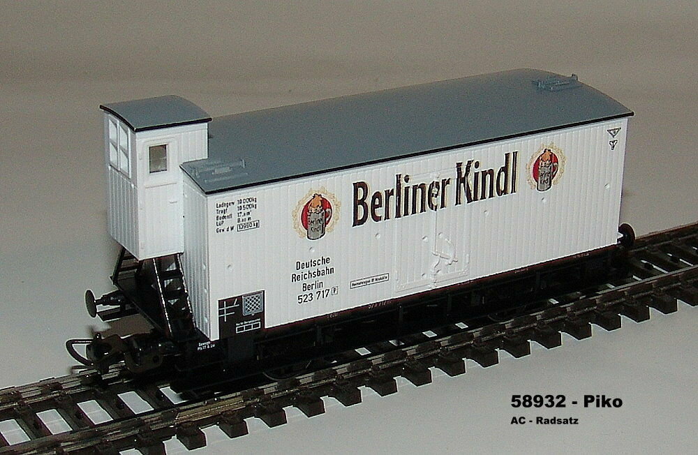 Piko 58932 - Bierwagen- DRG - Berlin Kamat - Ac Wheel Set New