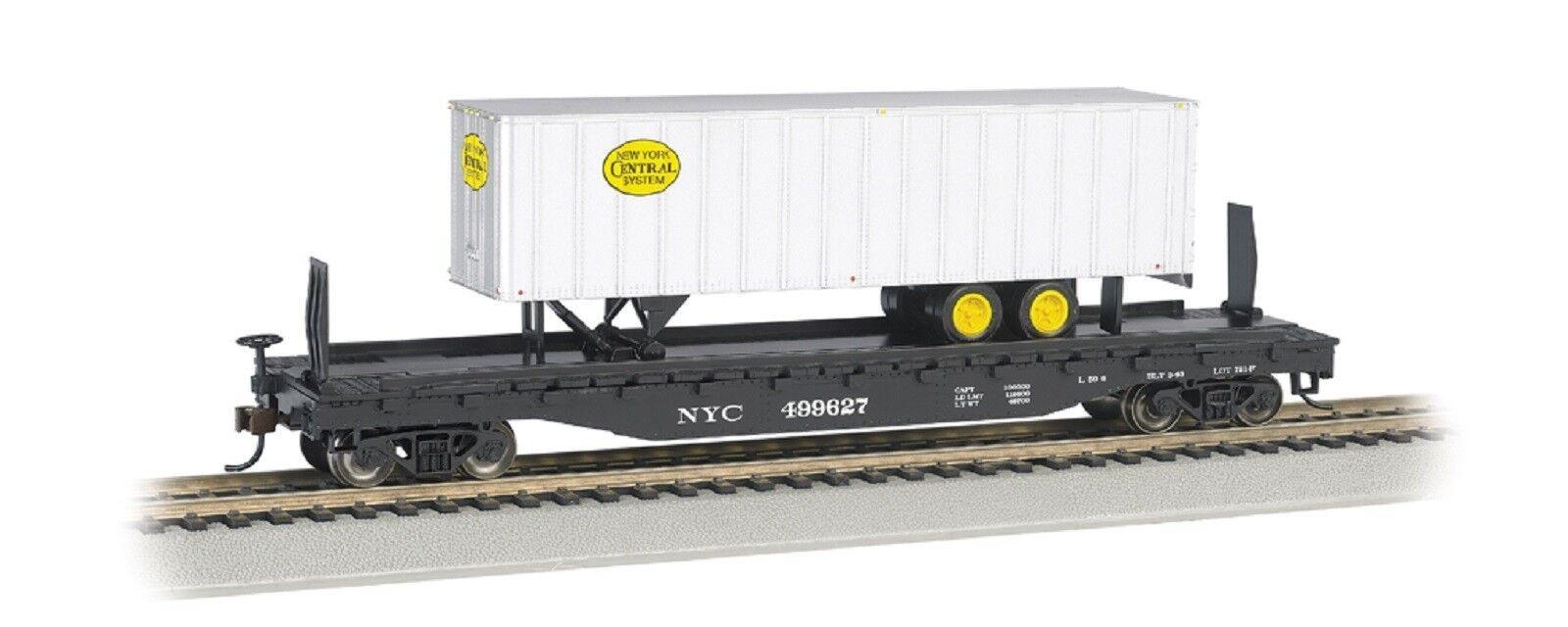 16703 WAGON Plat Transport remorque NYC Bachmann Train HO 1 87