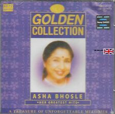 ASHA BHOSLE - GOLDEN COLLECTION - HER GREATEST HITS - BOLLYWOOD CD -FREE UK POST