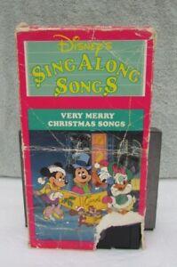 Disney Sing Along Songs Very Merry Christmas Songs.Details About Disney S Sing Along Songs Very Merry Christmas Songs Vhs Jingle Bells More
