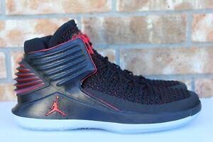 Men s Nike Air Jordan 32 MJ Day Banned Black Basketball Shoes Size ... 89a076a9d