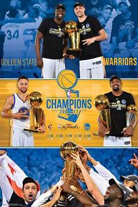 e142456b Details about Golden State Warriors 2017 NBA Championship CELEBRATION  Commemorative POSTER