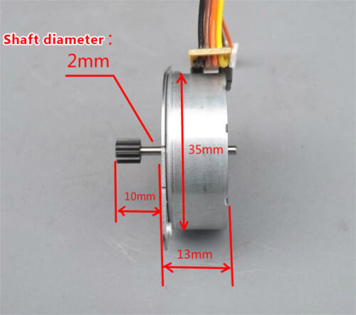 DC 5V 35mm Round Thin 2-phase 4-wire Stepper Motor Mini Stepping Motor 12T Gear