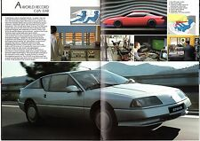 Renault Alpine GTA V6 & V6 Turbo 1990-91 UK Market Sales Brochure