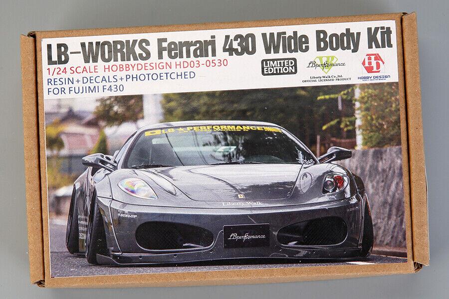Hobby Design 1 24 LB-Works 430 bred Body Set for Fujimi kit_;F430