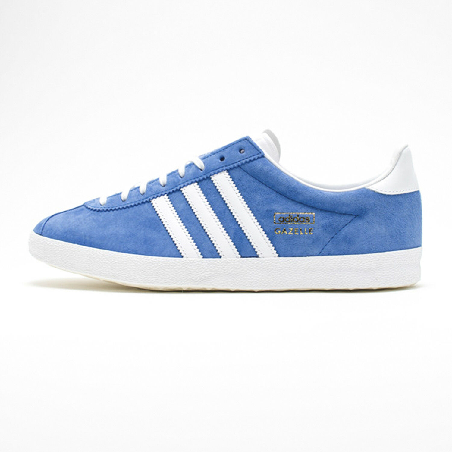 Adidas Originals Mens Gazelle OG Blau And Weiß Trainers Rubber Sole Lace Up