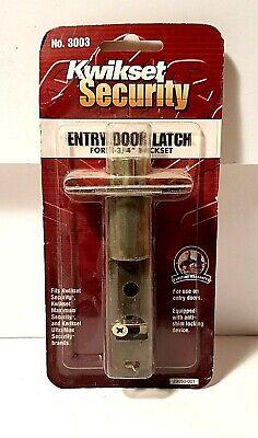 "1 Kwikset OEM deadbolt latch new old stock bright brass lock 2 3//4/"" backset"