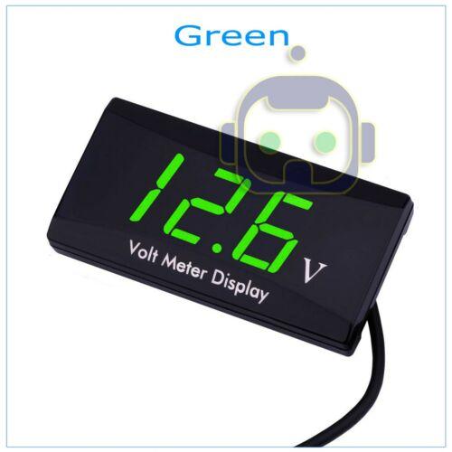 12V Digital LED Display Voltmeter Voltage Gauge Panel Meter For Car Motorcycle
