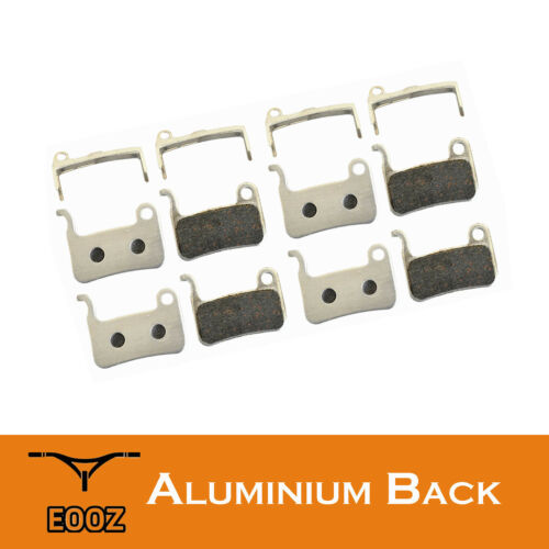 4 Pairs Lightweight Bike Semimetallic Disc Brake Pads AL Back For Shimano M596