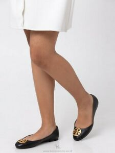 6ed2291d947c NIB Tory Burch Benton Ballet Flat Nappa Leather Black Size 11+Dust ...