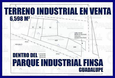 TERRENO INDUSTRIAL EN VENTA EN MONTERREY NUEVO LEÓN Parque Industrial FINSA Gpe.