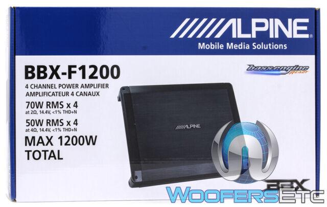 ALPINE BBX-F1200 CAR 4-CHANNEL 1200W COMPONENTS SPEAKERS TWEETERS AMPLIFIER NEW
