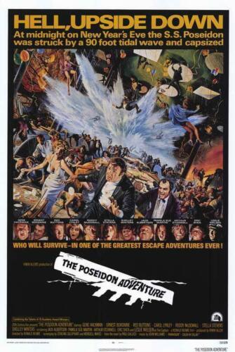 The Poseidon Adventure Movie POSTER 11 x 17 Gene Hackman Ernest Borgnine A