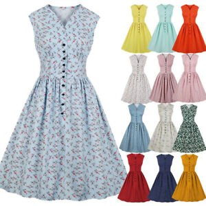 Details about Plus Size Womens 1940s Style Vintage Rockabilly Evening Party  Audrey Swing Dress