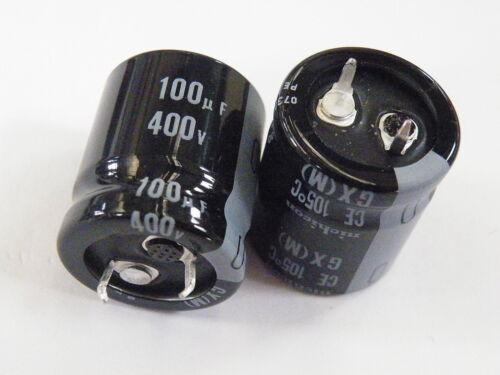 Snap in Can Electrolytic Capacitor 100uF 400V  105 degree EF14