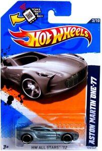 2012 Hot Wheels #123 Hw Tout Stars 3/10 Aston Martin One-77 - Argent