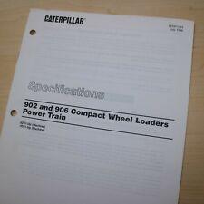 Caterpillar 902 906 Wheel Loader Power Train Specification Service Manual Repair