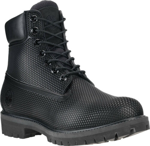 "Timberland Youth 6/"" Premium Exo WebTech Waterproof Boots Black Juniors TB0A14JWM"