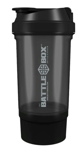 BattleBoxUK SHAKER 500ml Protein Shaker Bottle Mixer Blender Cup Creatine Whey