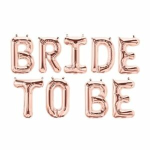 bride to be rose gold balloons 16 foil balloon wedding party banner
