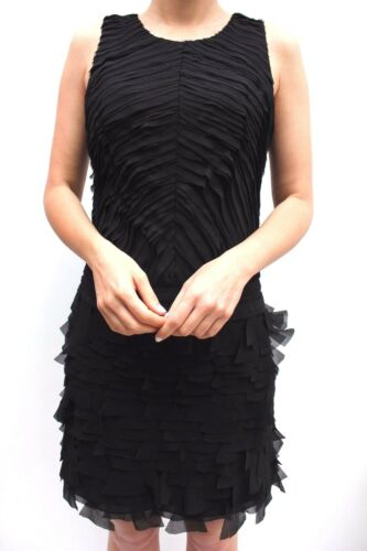 Millen Party New Cocktail Frill Sleeveless Dress 10 Layered Black Karen 38 Mini wRxgdnqRI