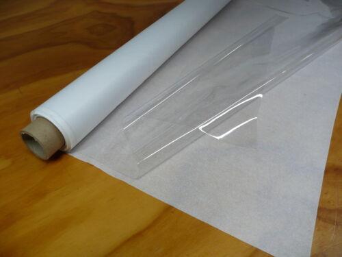 "VINYL for WINDOWS   54/"" x 30 yds x 10 MIL  SUPER CLEAR CLEAR PLASTIC"