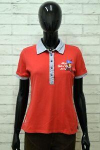 Polo-MARINA-MILITARE-Donna-Taglia-M-Maglia-Maglietta-Camicia-Shirt-Woman-Rosso