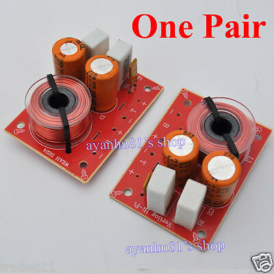 2PCS 2-Way 2 Unit Hi-Fi Audio Speaker Frequency Divider Stereo Crossover Filters