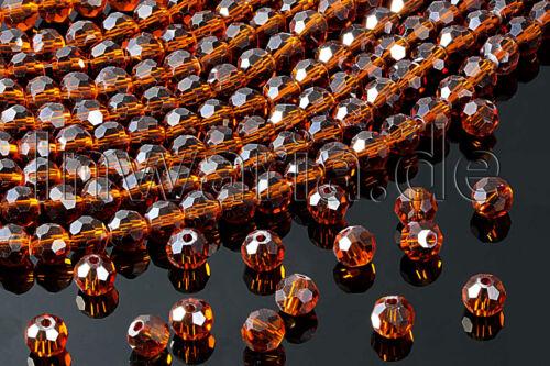 KP-6 Kristall Glasperlen Ø 4//6 mm facettiert rund Crystal Perlen