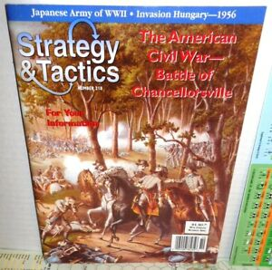 Strategy-amp-Tactics-Mag-w-Game-218-TWO-Battles-Chancellorsville-Plevna-1877