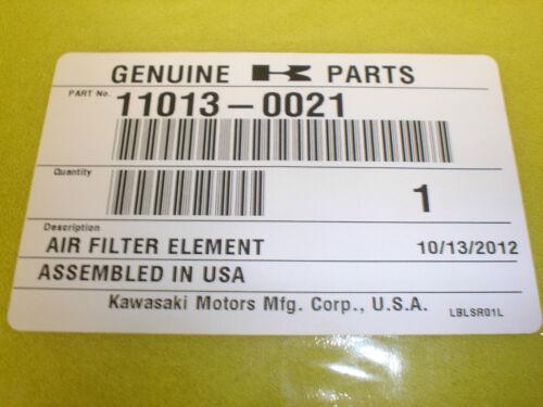 Kawasaki OEM Air Filter Element KVF Brute Force 2005-2014 650i /& 750i 11013-0021