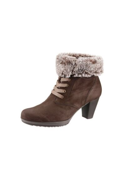 Gabor Bottines Neuf UK 8-8,5 Largeur F Cuir Marron Femmes Chaussures Taille 42-42,5