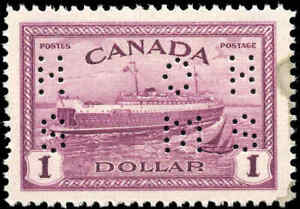 1946-Mint-Canada-VF-Scott-O273-1-Perforated-Peace-Issue-Stamp-Never-Hinged