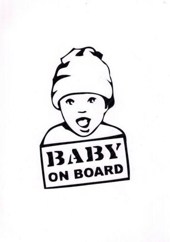 Baby on Board Kind Auto Aufkleber Tuning Car Sticker  schwarz Weiß GT7