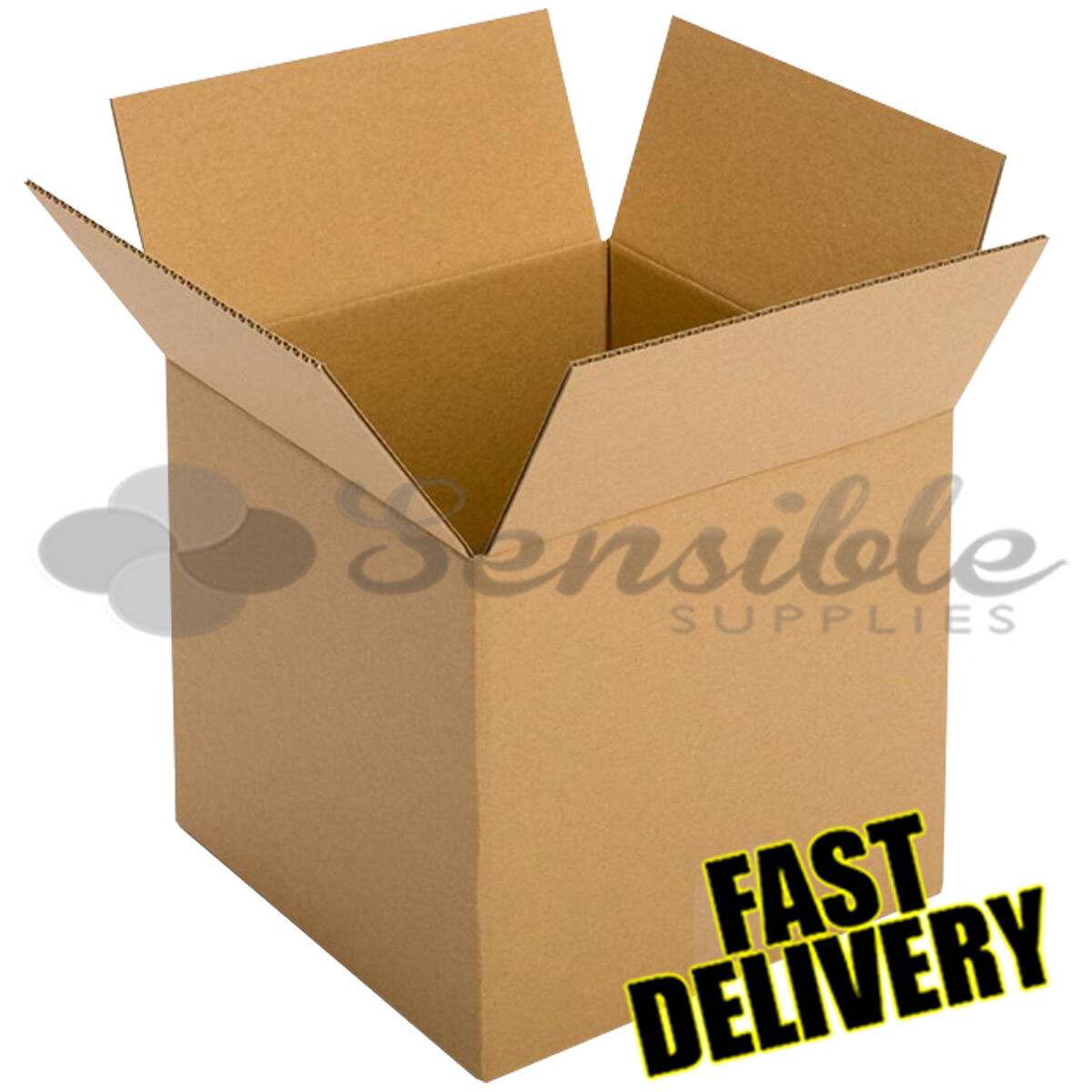 50 x LARGE SINGLE WALL REMOVAL STORAGE MOVING POSTAL CARTONS 24x18x18  FAST