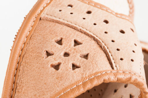 Lady/'s Women Flip Flop Leather Slippers Orthopedic Insole Shoes Sandals L Brown