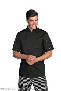 Caricamento dell immagine in corso GIACCA-Pasticcere-Leggera-NERA-Chef -Cucina-Ristorante-Tasca- a4f2e87706ee