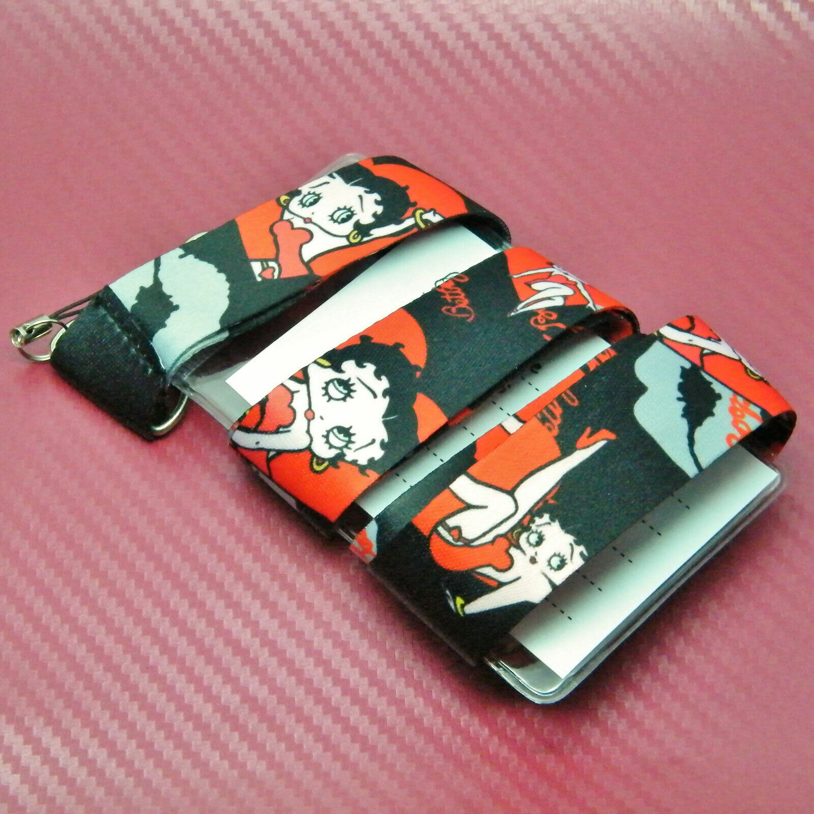 Betty Boop Cartoon Lanyard Card Case Pass Card Holder & Fitted Safety Breakaway