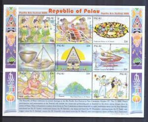 2019 Nouveau Style Palau-îles 2000 Tamponné Klb. Minr. 1815-1823 Art Festival Nouvelle-calédonie-afficher Le Titre D'origine Des Friandises AiméEs De Tous