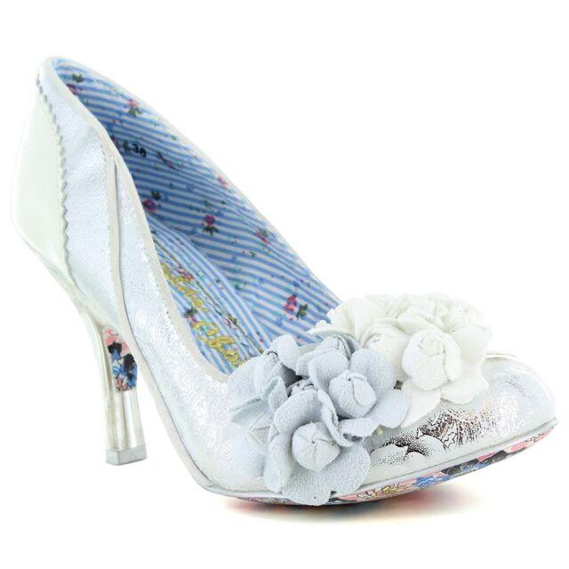 3f18eb07a768 Irregular Choice Mrs Lower Women s Silver High Heel Bridal Wedding ...
