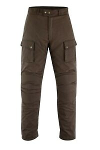 Warrior-New-Mens-Motorbike-Waxed-Cotton-CE-Armour-Bikers-Cotton-Wax-Trouser-Pant