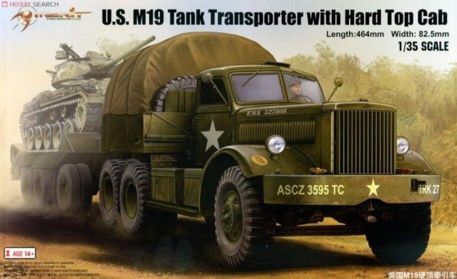 Merit 1 35 63501 U.S. M19 Tank Transporter with Hard Top Cab