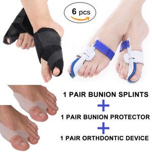 6-x-Big-Toe-Straightener-Bunion-Valgus-Corrector-Night-Splint-Pain-Relief