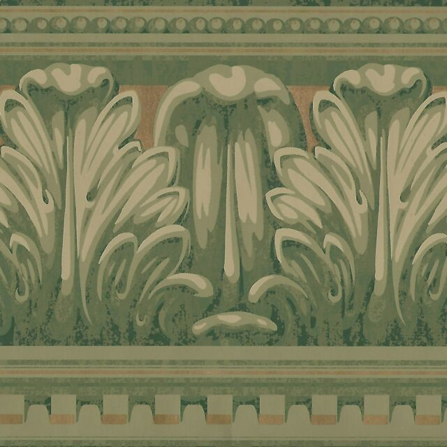 Victorian Scroll Moldings Wallpaper Border Only Brewster Borders A390