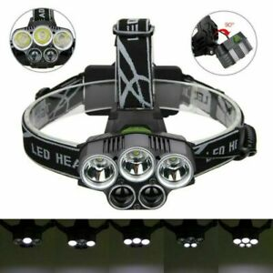 350000LM-5X-XML-T6-LED-Headlamp-Rechargeable-Head-Light-Flashlight-Torch-Lamp-US